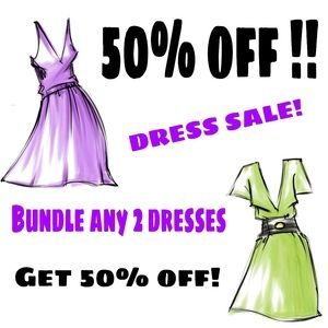 👗50% off ANY 2 DRESSES / GOWNS!!